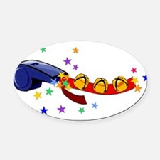 bells_whistles01.png Oval Car Magnet