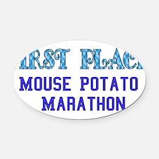 mousepotato01.png Oval Car Magnet