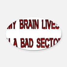 badsector01.png Oval Car Magnet