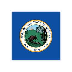 Indiana Seal Square Sticker 3