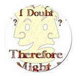 humor_doubt01.png Round Car Magnet