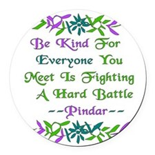 be_kind01.png Round Car Magnet