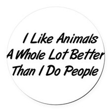animals01.png Round Car Magnet