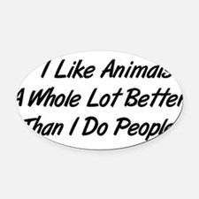 animals01.png Oval Car Magnet