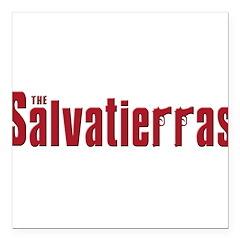 SALVATIERRA(blk).png Square Car Magnet 3