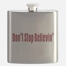 Dont stop believen(blk)T-Shirt.png Flask