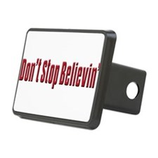 Dont stop believen(blk)T-Shirt.png Hitch Cover