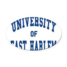 eastharlem.png Oval Car Magnet