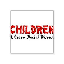 "children_grave01.png Square Sticker 3"" x 3"""