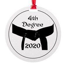 4th Degree Black Belt Round Ornament