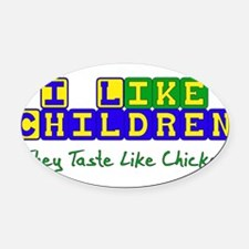 chicken01.png Oval Car Magnet