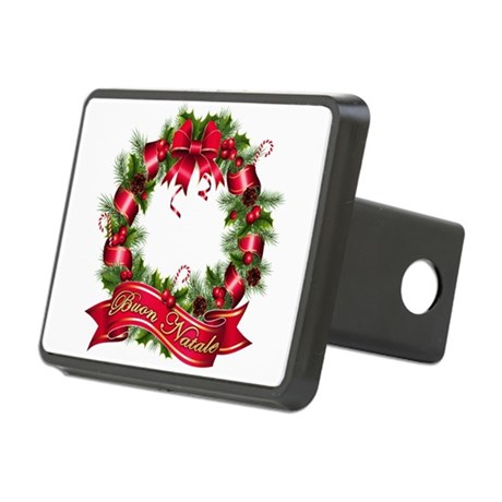 buon natale bb.png Rectangular Hitch Cover