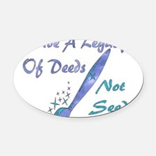 child_free_legacy01a.png Oval Car Magnet