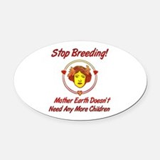 child_free_motherearth01.png Oval Car Magnet