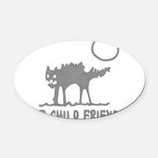 child_free_unfriendly01.png Oval Car Magnet