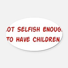 child_free_unselfish01.png Oval Car Magnet