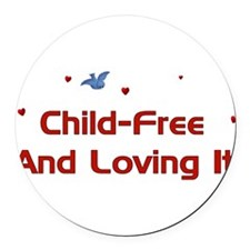 childfree01.png Round Car Magnet