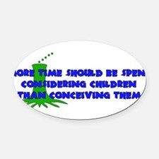 child_free_list03.png Oval Car Magnet