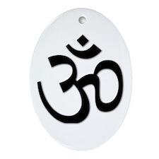 Yoga Icon Oval Ornament