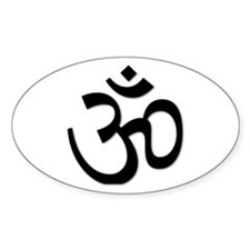 Yoga Icon Oval Decal