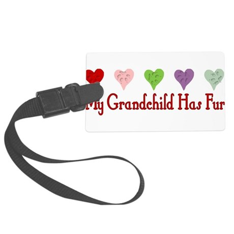 dogfur01a.png Large Luggage Tag