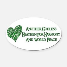 atheist03.png Oval Car Magnet