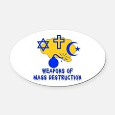 anti_religion044.png Oval Car Magnet