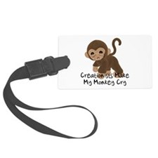 creationist_monkey01.png Luggage Tag
