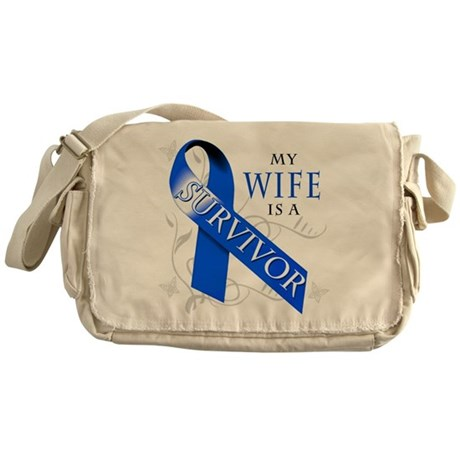 My Wife is a Survivor Messenger Bag
