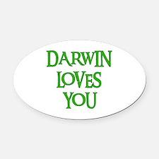 darwin01.png Oval Car Magnet