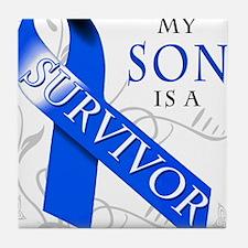 My Son is a Survivor Tile Coaster