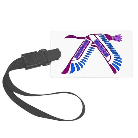 strong_woman011.png Large Luggage Tag