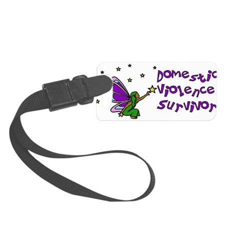 domestic_violence_survivor01.png Small Luggage Tag