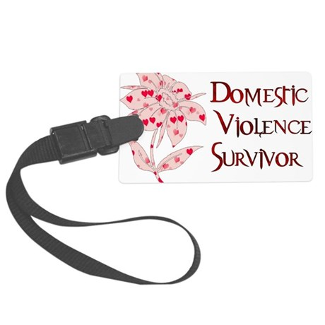 domestic_violencesurvivor01.png Large Luggage Tag
