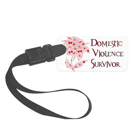 domestic_violencesurvivor01.png Small Luggage Tag