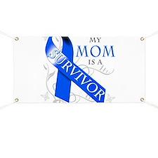 My Mom is a Survivor (blue) Banner