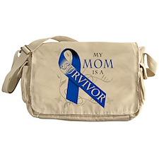 My Mom is a Survivor (blue) Messenger Bag