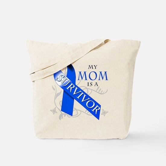 My Mom is a Survivor (blue) Tote Bag