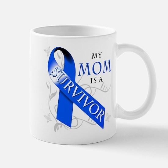 My Mom is a Survivor (blue) Mug