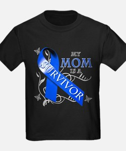 My Mom is a Survivor (blue) T