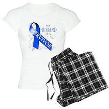 My Husband is a Survivor (blue) Pajamas