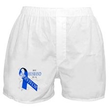 My Husband is a Survivor (blue) Boxer Shorts