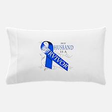 My Husband is a Survivor (blue) Pillow Case