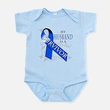 My Husband is a Survivor (blue) Infant Bodysuit