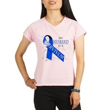 My Husband is a Survivor (blue) Performance Dry T-