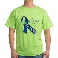 My Husband is a Survivor (blue) T-Shirt