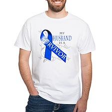 My Husband is a Survivor (blue) Shirt