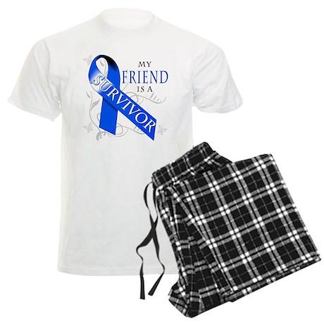 My Friend is a Survivor (blue) Men's Light Pajamas