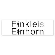 Finkle is Einhorn! Bumper Sticker