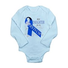 My Daughter is a Survivor (blue) Long Sleeve Infan